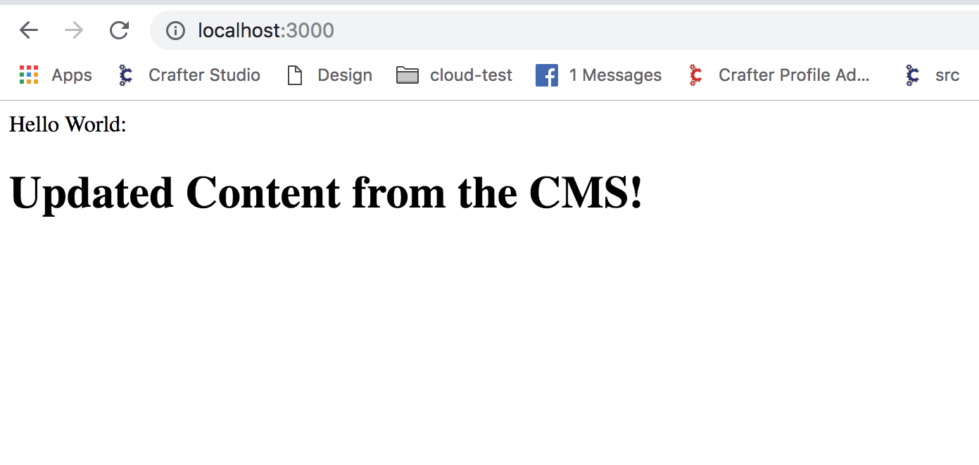 CMS for NodeJS: Using Crafter CMS Javascript SDK on the